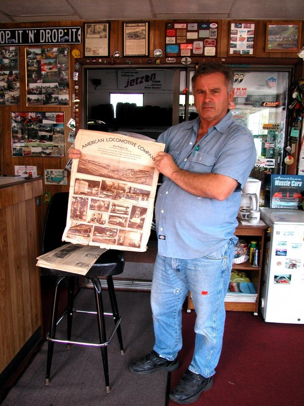 Mike holding 1927 observer